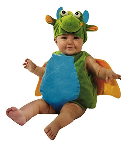 Lil Dragon Infant Costume (Boo Babies Halloween Costume Green Lil Dragon Sz 0-9 Months 3 Pieces Wings)