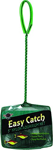 Easy Catch 5 Net - Blue Ribbon Pet Products ABLEC5C Easy Catch Fish Net, 5-Inch, Coarse Green