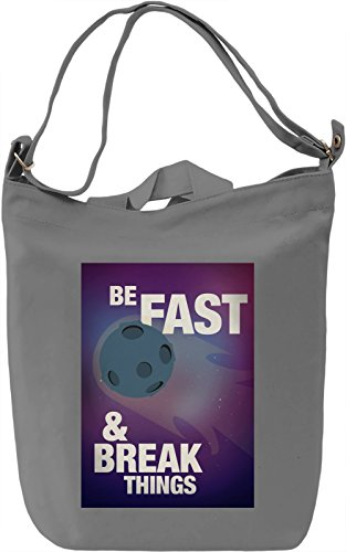Be fast Borsa Giornaliera Canvas Canvas Day Bag| 100% Premium Cotton Canvas| DTG Printing|