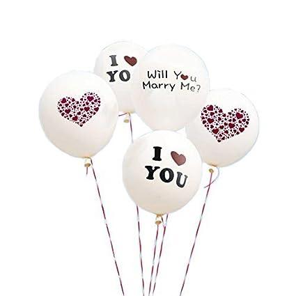 Amazon white wedding balloons i love you balloons for wedding white wedding balloons i love you balloons for wedding proposal 5 pcs junglespirit Images