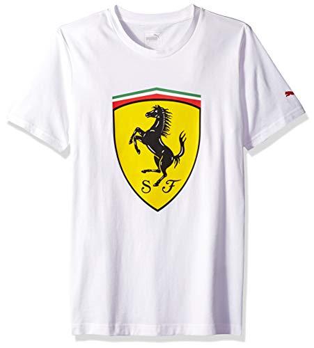 PUMA Men's Standard Scuderia Ferrari Big Shield T-Shirt, White, ()