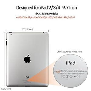 iPad 2 Case,iPad 3 Case,iPad 4 Case,BENTOBEN Heavy Duty Rugged Shock-Absorption / High Impact Resistant Hybrid Three Layer Full Body Protective Case Cover for iPad 2/3/4 Retina (Black/Gray)
