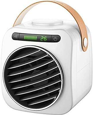 Aire Acondicionado móvil pequeño Aire Acondicionado Ventilador humidificador purificador de Aire aromaterapia USB Mini Personal Enfriador de Aire, Oficina en casa, Mini Aire Acondicionado: Amazon.es: Hogar