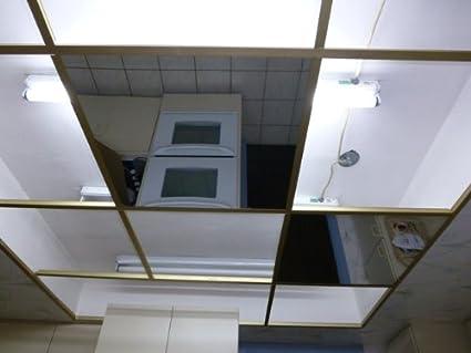 Top Amazon.com: Ctbu Glassless Mirror Ceiling Tile 23.75x47.5 Grid  JT94