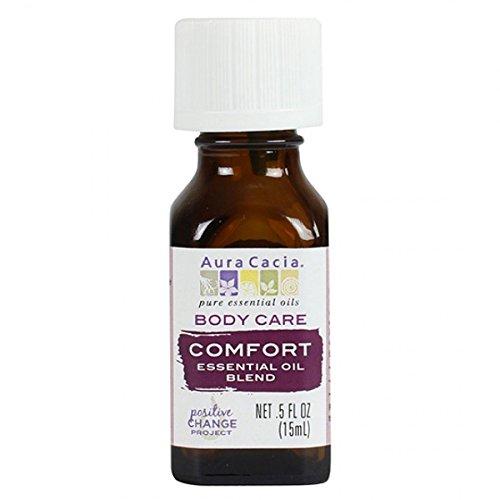 - Aura Cacia Essential Blend Body Oil, Comfort, 0.5 Ounce