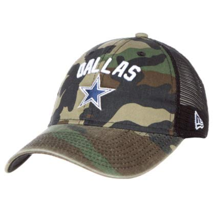 b575f6d872a646 Image Unavailable. Image not available for. Color: Dallas Cowboys New Era  Rugged Stack Trucker 9Twenty Cap