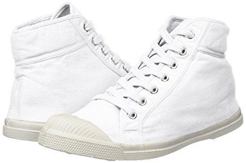 Blanco Deportivas Tennis Bensimon Mujer Blanc Mid Altas Zapatillas AYAqRxn