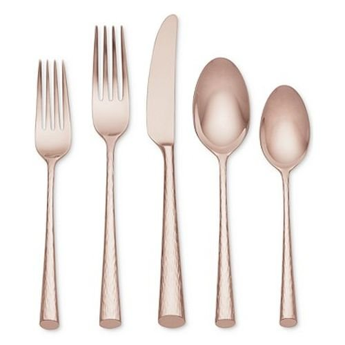 - LENOX ROSE GOLD IMPERIAL CAVIAR FW 5PC PLACE SET