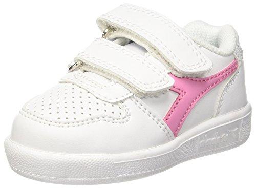 Diadora Playground TD, Zapatillas de Gimnasia Para Niños Blanco (Bianco Rosa Pourri)