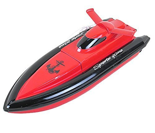 CSFLY H800 Dexop Rc Boat High Speed Motor and Paddle Only Work When Touching the Water,No Responds on the L, Red ()