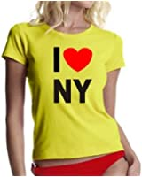 I LOVE NY ! GIRLY T-SHIRT S M L XL XXL diverse Farben