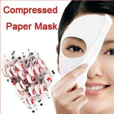 FYX FM01 100шт Уход за кожей DIY лица волокно лице сжатого сухого маска SPA Бумага Уход за кожей