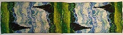 Damen M/ädchen 100/% Maulbeerseide /Ölgem/älde van gogh monet Klimt Schals Wrap