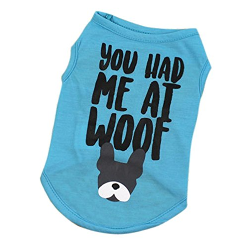 Howstar Pet Shirts Cute Print Vest Summer Apparel for Small Dog Cat Puppy Costume