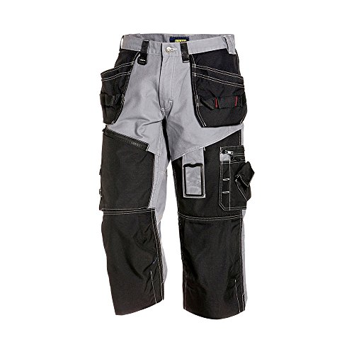 150113709499C52 Trousers Pirate''x1500'' Size 36/32 (Metric Size C52) IN Grey/Black by Blaklader (Image #1)