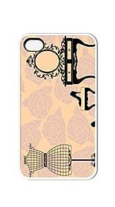 TUTU158600 Hard Plastic and Aluminum Back iphone 4 cases for women designer - vintage Ms. supplies