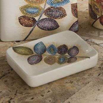 Amazon Com Croscill Mosaic Leaves Soap Dish Multi Home Kitchen