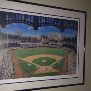 """Yankee Stadium Lithograph called """"TEN/FOUR/SIXTY-ONE"""" Limited Edition 343/600"""
