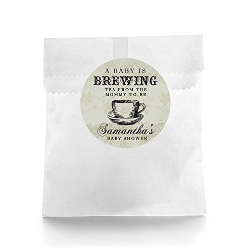 Baby Is Brewing Baby Shower Favor Labels - Set of (Baby Brewing Shower Favors)
