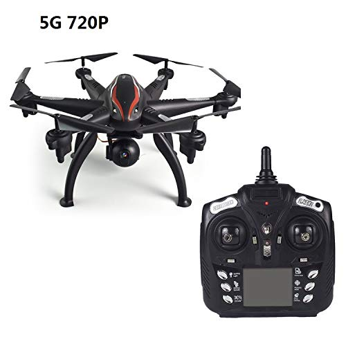 L100 6-Axis 4CH 720P/1080P HD Wide Angle 2.4G/5G RC Drone Quadcopter Aircraft Plane WiFi FPV Dual GPS 180 Adjustable Camera Dron,5G 720P, ()