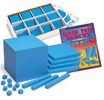LEARNING RESOURCES 200 RODS 20 FLATS 3 CUBES PLASTC BASE TEN CLASS SET 600 UNITS by Learning Resources