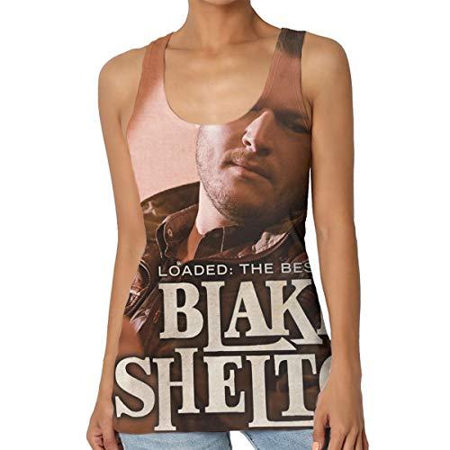 HuiXieJian Blake Shelton Loaded The Best of Blake Shelton Women's Gym Sleeveless Tank Top Jersey XL Black -
