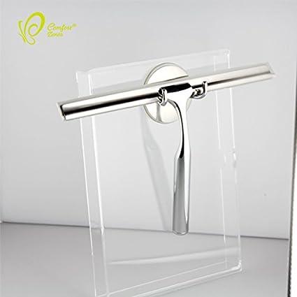 Caballero Deluxe – Limpiacristales para ducha (Windows cepillo, acero inoxidable, rasqueta para baño
