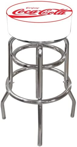 Coca-Cola Enjoy Padded Swivel Bar Stool