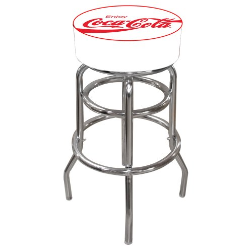 """Coca-Cola """"Enjoy"""" Padded Swivel Bar Stool for sale  Delivered anywhere in USA"""
