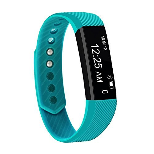 Fitness Tracker,FIT-FIRE Super-thin Activity Tracker Wearable Smart Bracelet (Teal)