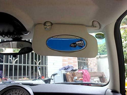 BJJS Piezas de Casco de Visera Parasol del Espejo cosm/ético Cubierta de Pegatinas Recorte Las Etiquetas del Coche Auto Styling para la Serie Mini Cooper r r55 r56 7
