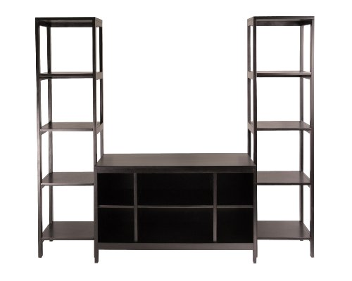 Winsome Wood Hailey 3 pc Wood TV Stand Shelf Set - Modular 3 Shelf Tv Stand
