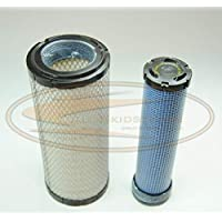 Engine Inner & Outer Air Filter Kit for Bobcat 863, 863G, 864, 864G, 873, 873G, 883, T200 Skid Steers | Replaces OEM # 6666375 & 6666376