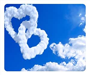 DIY Blue Love Rectangular Mouse Pad Clouds Float in the Sky