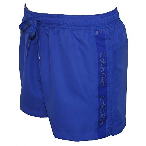 Calvin Klein Logo Tape Men's Swim Shorts, Royal Blue X-Large