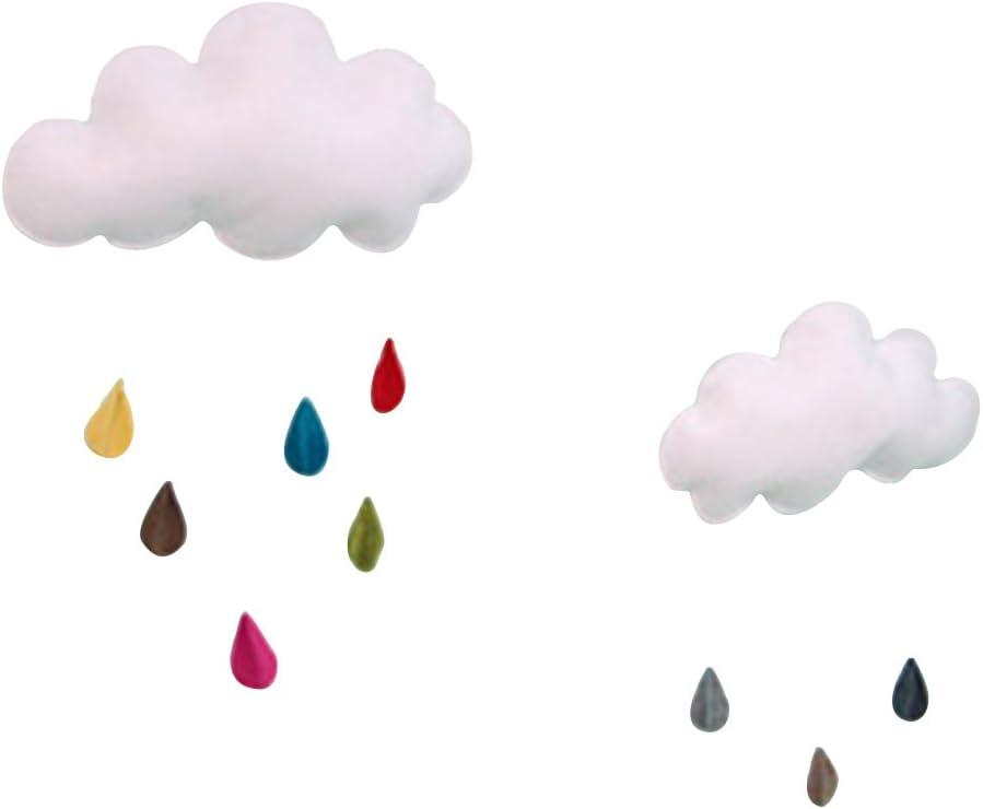 OULII Nube de gotas de lluvia Colgante Colgante DIY para la ducha de bebé Decoración de la habitación de los niños