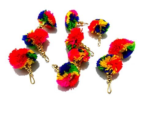 GOELX Multicolor Pom Pom Tassels for Making Earrings/Jewellery/Caps/Dress Borders/Arts/Crafts/Decorations Arts & Crafts Borders