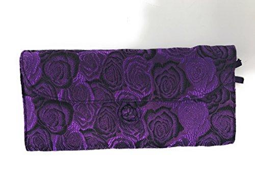 HiyaHiya Circular Knitting Needle Case - 27 Pockets Brocade & Cotton (Purple Roses) by HiyaHiya