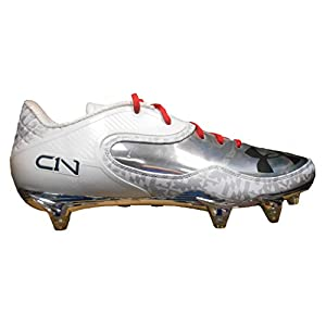 Under Armour Team Cam Low D Football Cleats (12, White/Msv/Black)