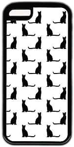 Black Cat Pattern Theme Iphone 4s Case