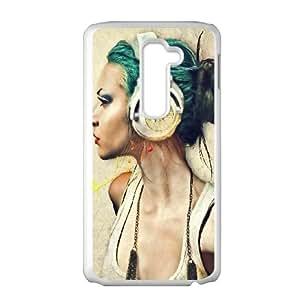 LG G2 Cell Phone Case White Music girl ISU500439