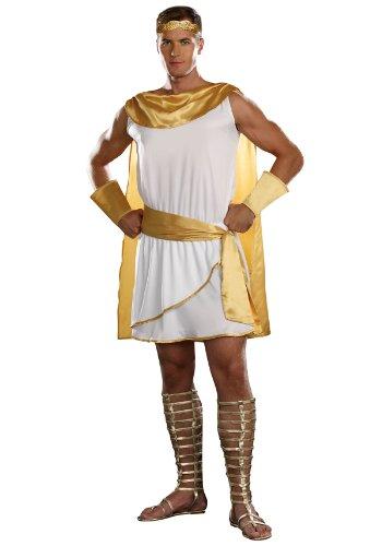 Dreamgirl Men's He's A God Costume, White, Medium -