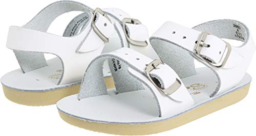 Salt Water Sandals by Hoy Shoe Sea Wees,White,3 M US Infant