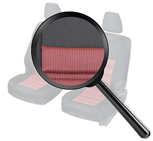 2stk Set 4D-RUBIN-293 Starkes Material Z4L Stoff /Überz/üge Rubin Universell Sitzschoner SCHWARZ Rot