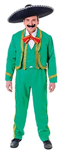 Mexican Man, Mariachi Singer, Mens Fancy Dress Costume by Bristol Novelties - Mariachi Fancy Dress