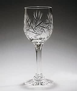 Handcut Crystal 3 ounce Port-Sherry Glasses - Set of 6 - Pinwheel