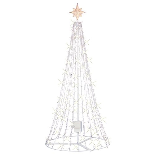 ge twinkle 75ft indooroutdoor clear lights musical christmas tree with speaker apple and android device controlled with app amazonca home kitchen - Outdoor Metal Christmas Trees