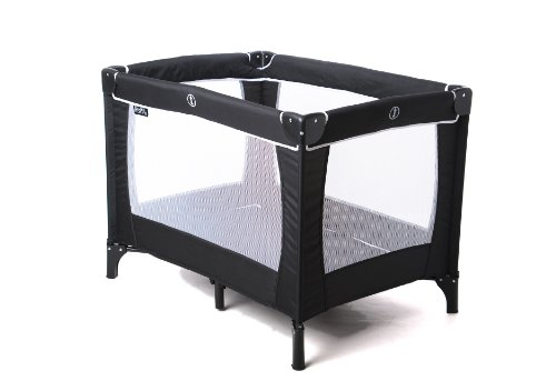 Red Kite Sleep Tight Travel Cot - Jet Black by Babyland