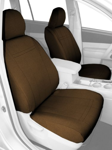 Covers Seat Fit Precision (CalTrend Front Row Bucket Custom Fit Seat Cover for Select Ford F-150 Models - SportsTex (Beige))