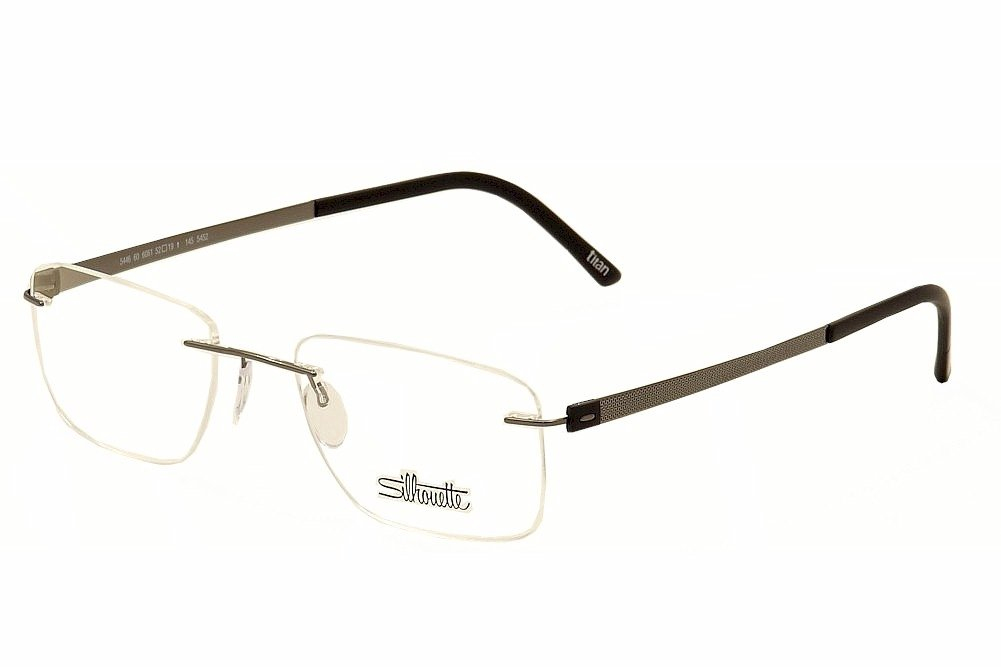 da0f0f9e581 Silhouette Eyeglasses Titan Accent Chassis 5452 6061 Optical Frame 17x145mm